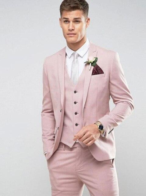 Tailored Black White pattern Men Suit Groom Wedding Suits for Men Slim Fit 3 Piece Tuxedo Custom Prom Blazer Terno Masculino - EM