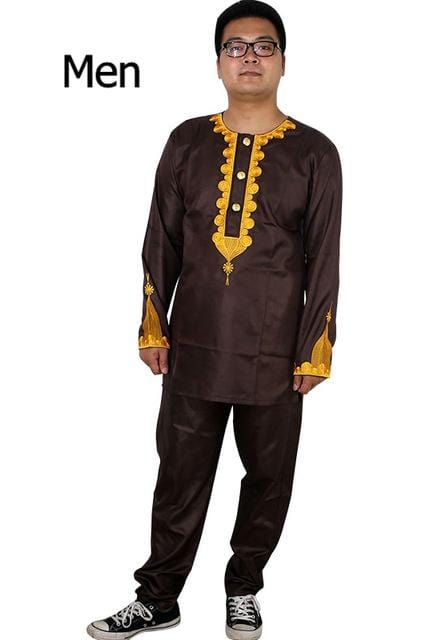 african kids clothing bazin riche dashiki men african clothes south africa shirt pant two 2 piece suits parents children set - EM