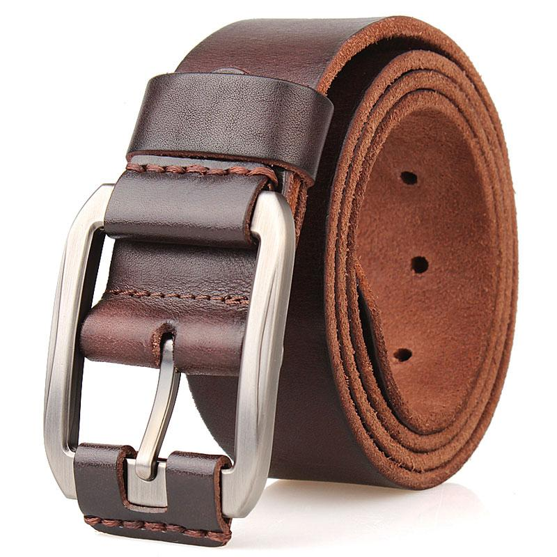 designer belt men luxury 100%real full grain thick cowhide genuine leather vintage 3.8cm sport masculine big size soft belt 140