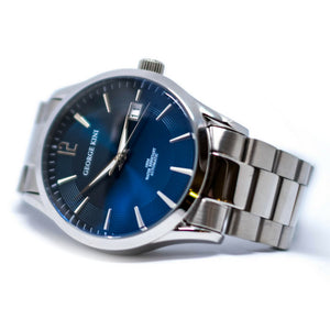 Automatic Steel Men's Watch With Blue Dial