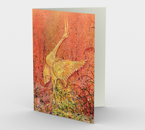 Joyous Dance - Blank Greeting Cards - kenbonnerart