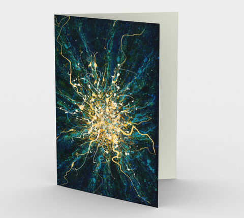 Burst of Passion II - Blank Greeting Cards - kenbonnerart