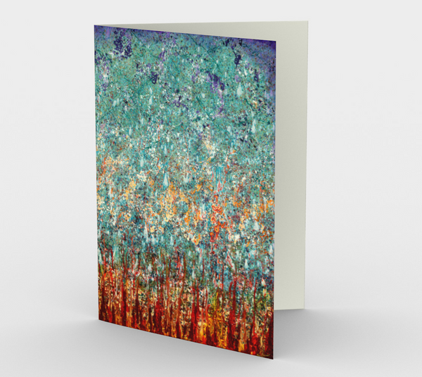 Elemental Meeting - Fire & Ice II - Blank Greeting Cards - kenbonnerart