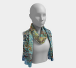 Blue Moon Long Scarf - kenbonnerart