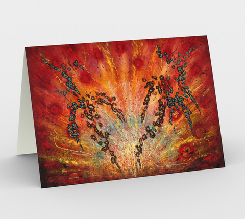 Our Exquisite Passion - Blank Greeting Cards - kenbonnerart