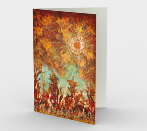 Elemental Dance Dawn Greeting - Blank Greeting Cards - kenbonnerart