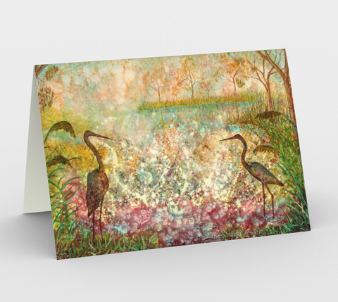 Dawn Symphony Blank Greeting Cards - kenbonnerart