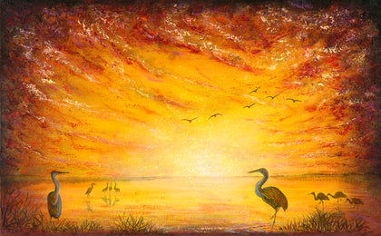 Dawn Enchantment (Print on Fine Art Paper) - kenbonnerart