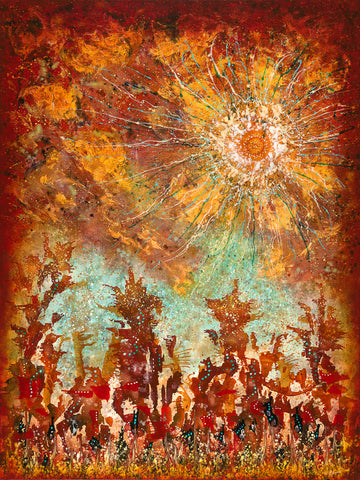 Elemental Dance - Dawn Greeting (Print on Fine Art Paper) - kenbonnerart