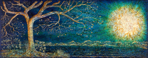 The One Tree - Full Moon (Print on Fine Art Paper) - kenbonnerart
