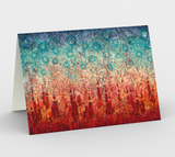 Elemental Meeting Fire & Ice I - Blank Greeting Cards - kenbonnerart