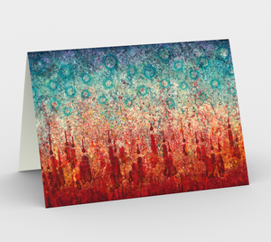 Elemental Meeting Fire & Ice I - Blank Greeting Cards