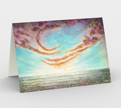 There is a World Far Away II - Blank Greeting Cards - kenbonnerart
