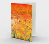 Elemental Meeting - Fire & Water - Blank Greeting Cards - kenbonnerart