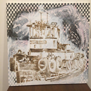 The Benjamin Elliot Tugboat - 2017 - Red Bank Artisan Collective jewelry art vintage recycled Artwork, Asja Jung