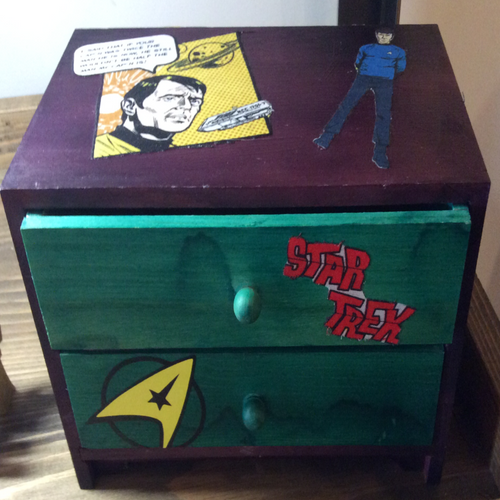 Star Trek mini 2 drawer Box