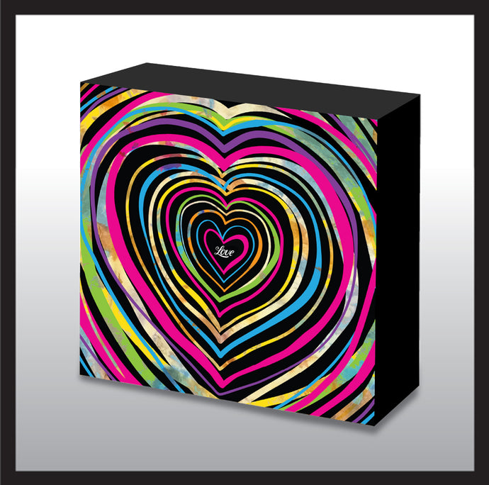 Pop Art Rainbow Heart Love