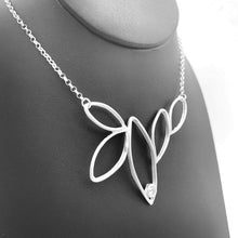 Nature-Inspired Pure Silver 5 Leaf Necklace