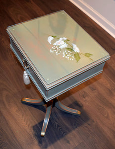 Glass Top Pedestal table