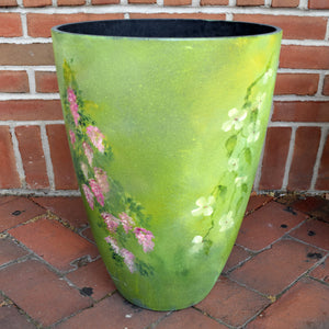 Hand-painted Flowered Planters