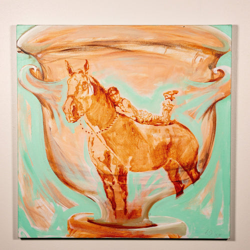 In the Sun on the Vase - 2018 - Red Bank Artisan Collective jewelry art vintage recycled Horse Art, Asja Jung
