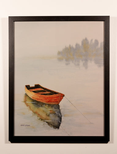 Watercolor Boat - Red Bank Artisan Collective jewelry art vintage recycled Artwork, Yankee Girl Art