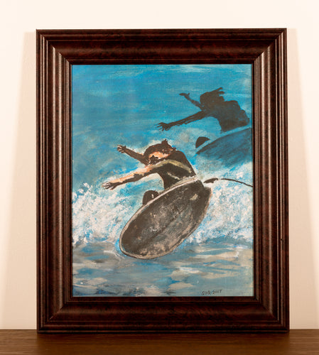 Surfer - Red Bank Artisan Collective jewelry art vintage recycled Artwork, Steve Schiro