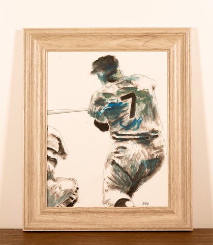 Mickey Mantle - Red Bank Artisan Collective jewelry art vintage recycled Artwork, Steve Schiro
