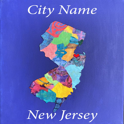 New Jersey Mixed Media Print Custom Orders