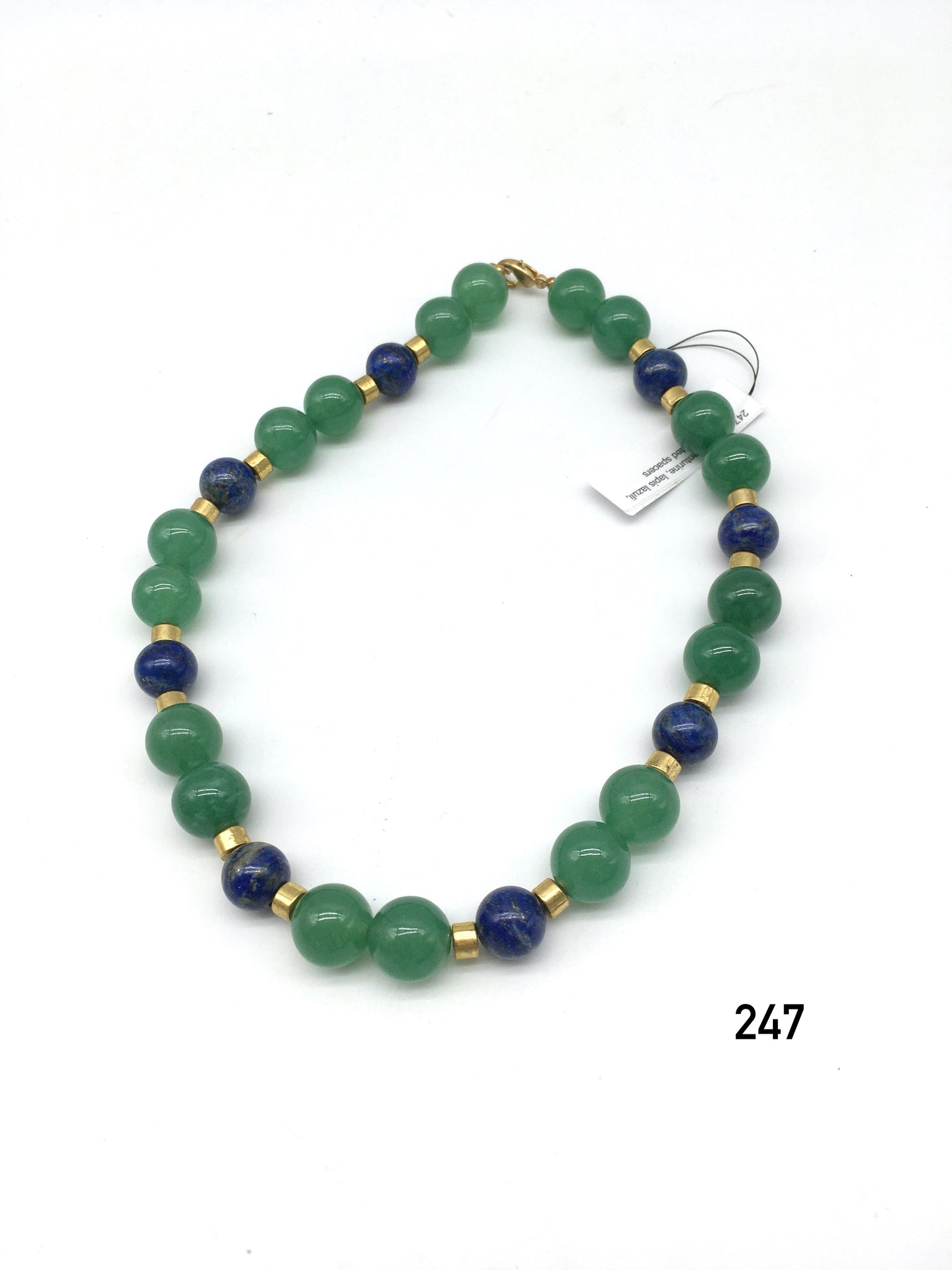 Green Aventurine Lapis Lazuili Necklace