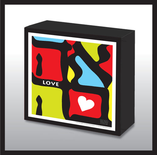 Pop Art Love Wood Panel