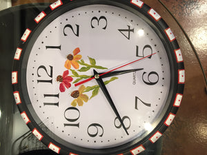 Hand-Painted Flower Clocks - Red Bank Artisan Collective jewelry art vintage recycled Clocks, Susan's Art