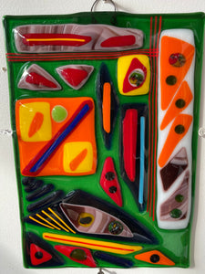Abstract #1 Fused Glass Artwork