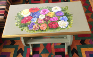Hand-painted Flower Table