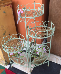 Hand-painted Wire Planter Holder