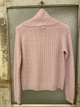 Allude Pink Cable Cowl Sweater