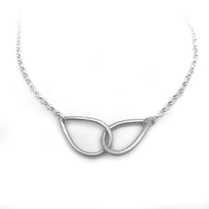 Sterling Silver Connecting Teardrop Necklace Infinity Jewelry