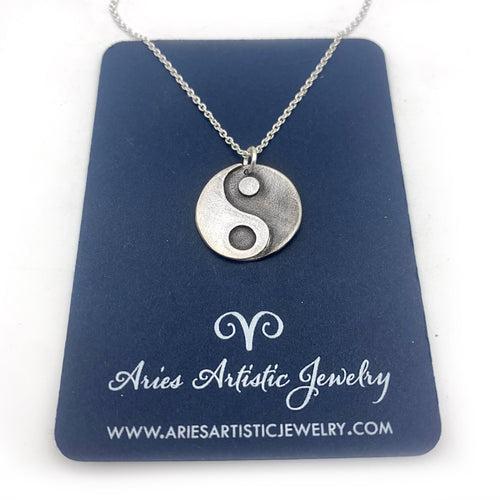 Sterling Silver Spiritual Necklace with Yin Yang Pendant