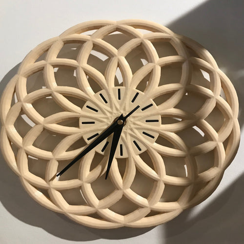 3D printed clock designed and printed by local NJ artist