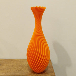 3D printed twisted vase created by NJ artist