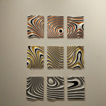3D printed 3 panel wall art designed by local NJ artist
