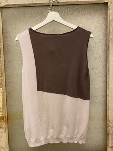 Biancalancia Two-Tone Sleeveless Top