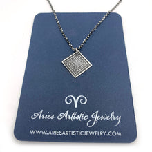 Sterling Silver Diamond Shaped Celtic Knot Necklace