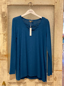 Lilla / P Teal Blue Long Sleeve