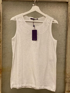 Laurel Pearl White Tank Top