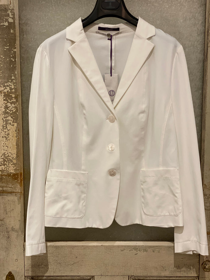 Laurel White Button Blazer