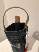 Up-cycled Leather Denim Tote
