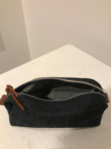 Selvedge Denim Dopp Kit Toiletry Bag