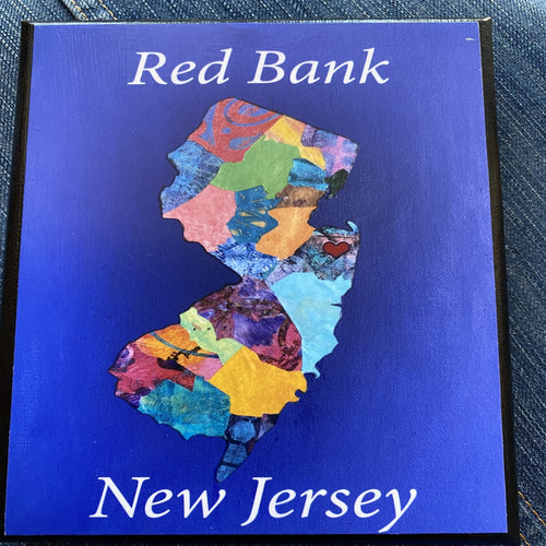 New Jersey Mixed Media Art Canvas