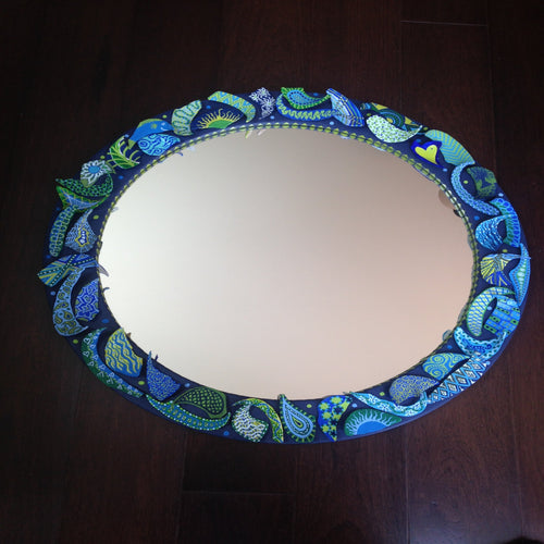 Broken Clam Shell Mirror